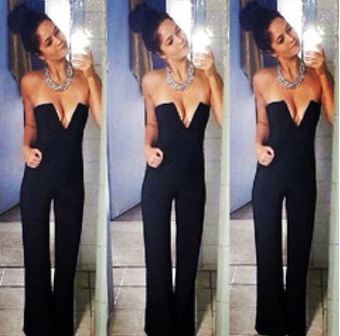 Deep V Neck Playsuit