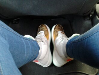 shoes nike gold sneakers high white