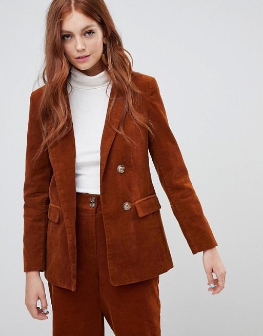 New Look Corduroy Blazer Two-Piece at asos.com