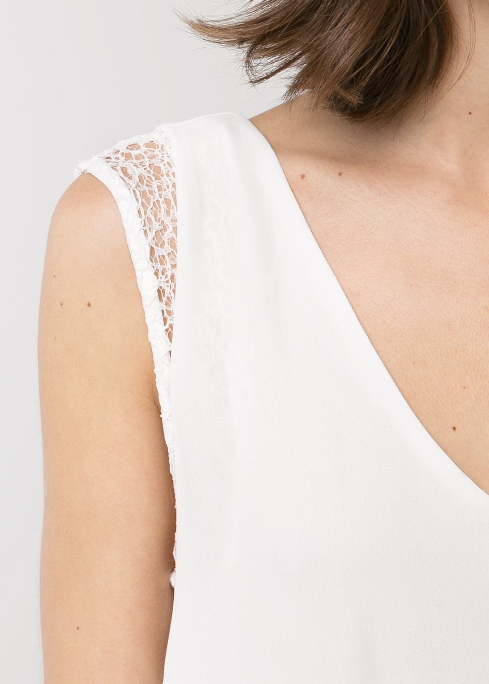 Openwork detail dress -  							  							Women - 							MANGO