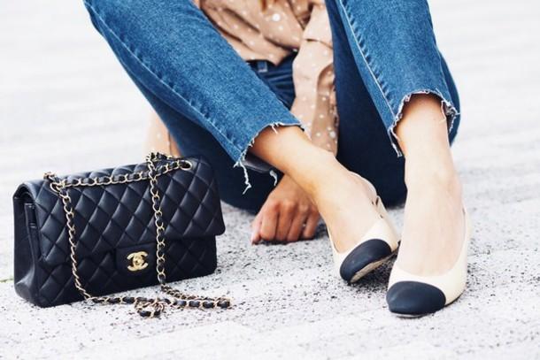 lydia elise millen blogger blouse bag shoes jewels sunglasses chanel slingback shoes