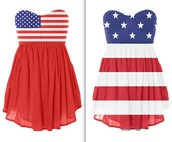 american flag,patriotic dress,blue dress,red dress,white dress,dress,short dress,american flag dress strapless