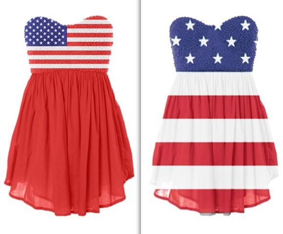 american flag patriotic dress blue dress red dress white dress dress short dress