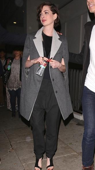 coat anne hathaway vest