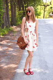 steffy's pros and cons,blogger,cut-out dress,red shoes,flat sandals