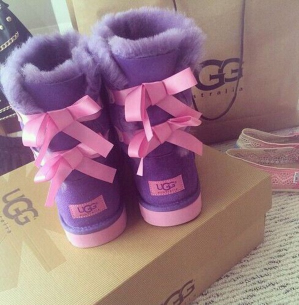 pink and purple ugg boots