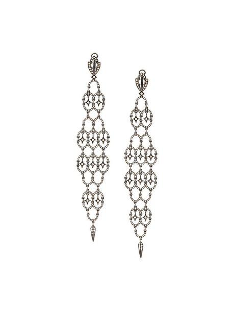 Loree Rodkin women earrings gold black jewels