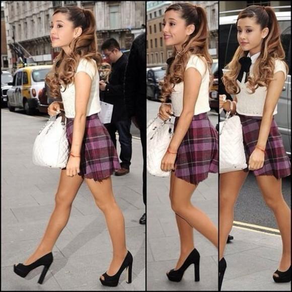high heels black heels ariana grande ariana heels ariana grande heels blouse bag