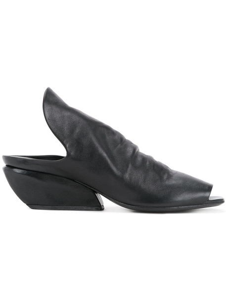 Marsèll horse women mules leather black shoes