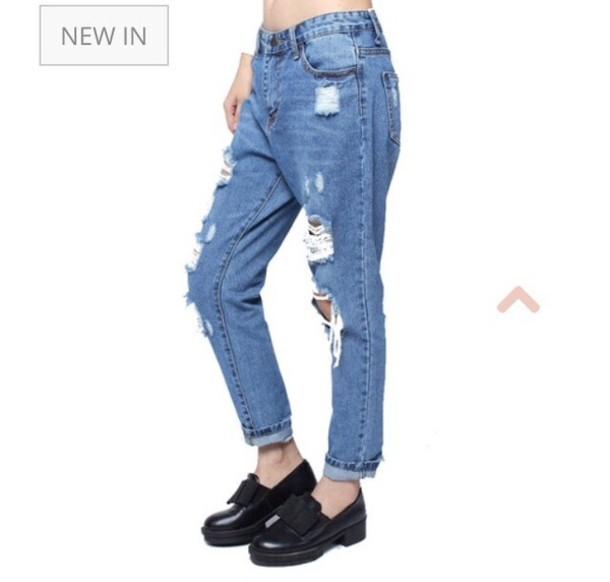 jeans denim vintage retro boyfriend jeans used look jeans used