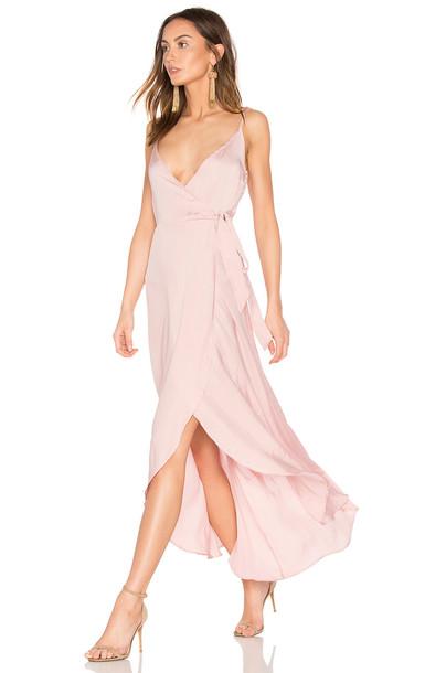 Band of Gypsies dress wrap dress satin pink