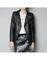 Black rivets leather jacket
