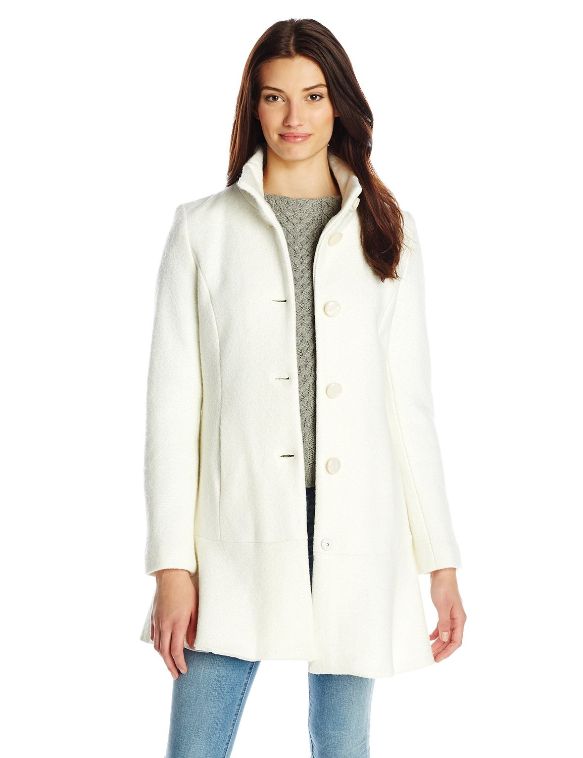 Blend coat with skirted hem at amazon women's coats shop