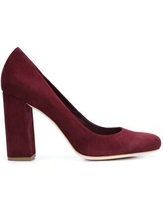 women pumps suede red shoes