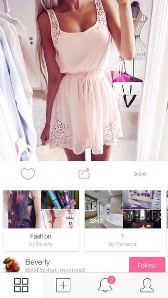 baby pink sundress halter dress casual dress casual