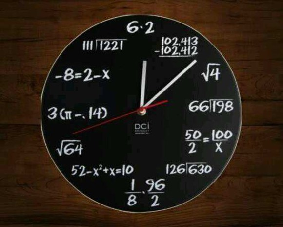 clock jewels math