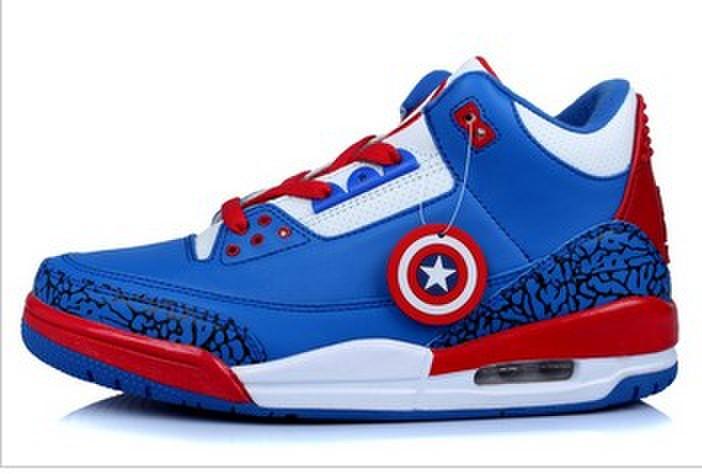 Jordan Captain America 2014 Nike New Jordan 3 III Retro Mens Shoes