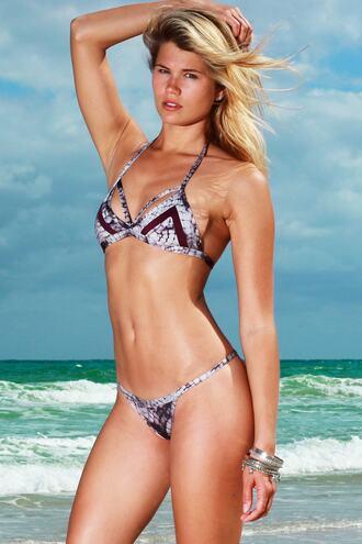 top bikini top purple triangle swimwear bikiniluxe