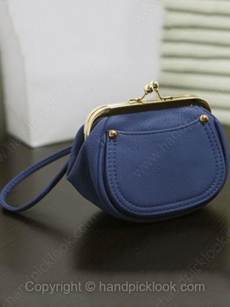 Blue PU Fashion Mini Purse - HandpickLook.com