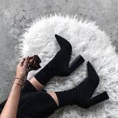 shoes,tumblr,sock boots,high heels,high heels boots,black boots,bracelets,cuff bracelet