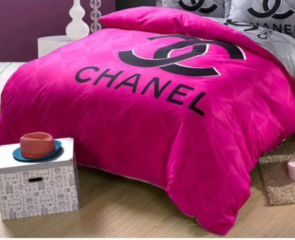 Home Accessory Chanel Bedding Home Decor Pink Black Style Wheretoget