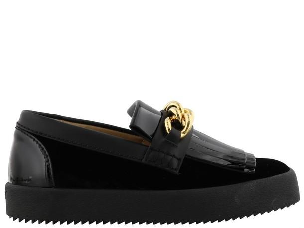 Giuseppe Zanotti london black shoes