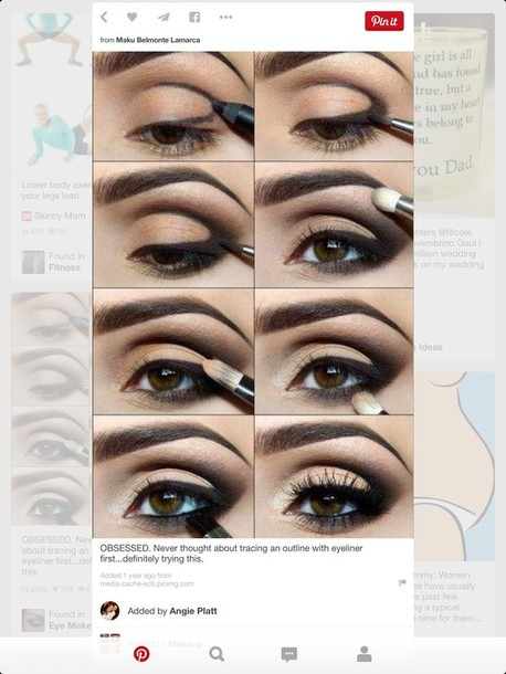 make-up black smokey eye shadow. eyes