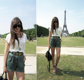 high waisted style scrapbook andy green shorts