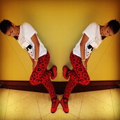 jeans,red,zendaya,red pants