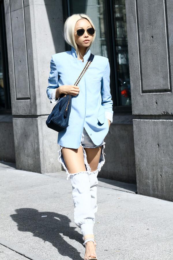 the haute pursuit jacket jeans shoes bag