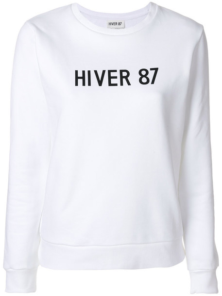 A.P.C. pullover women white cotton sweater