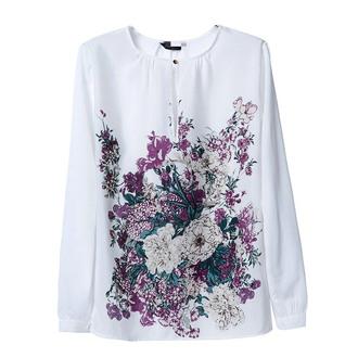 white blouse blouse floral floral blouse floral top purple flowers