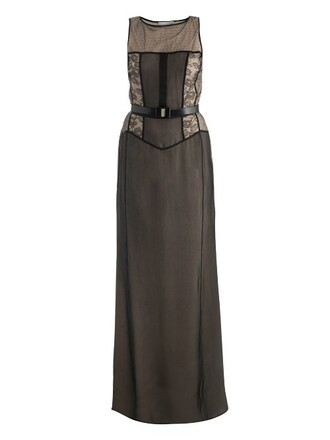 gown nude black dress