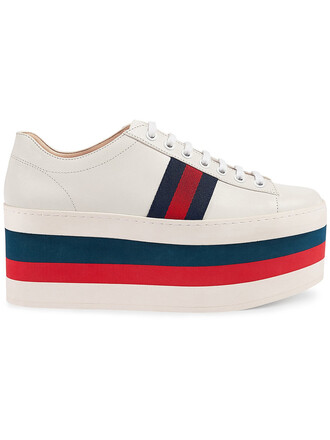 women leather white shoes