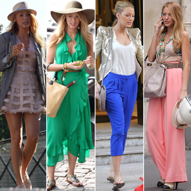 blake lively gossip girl pink pants