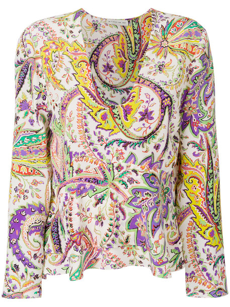 ETRO blouse printed blouse women silk top