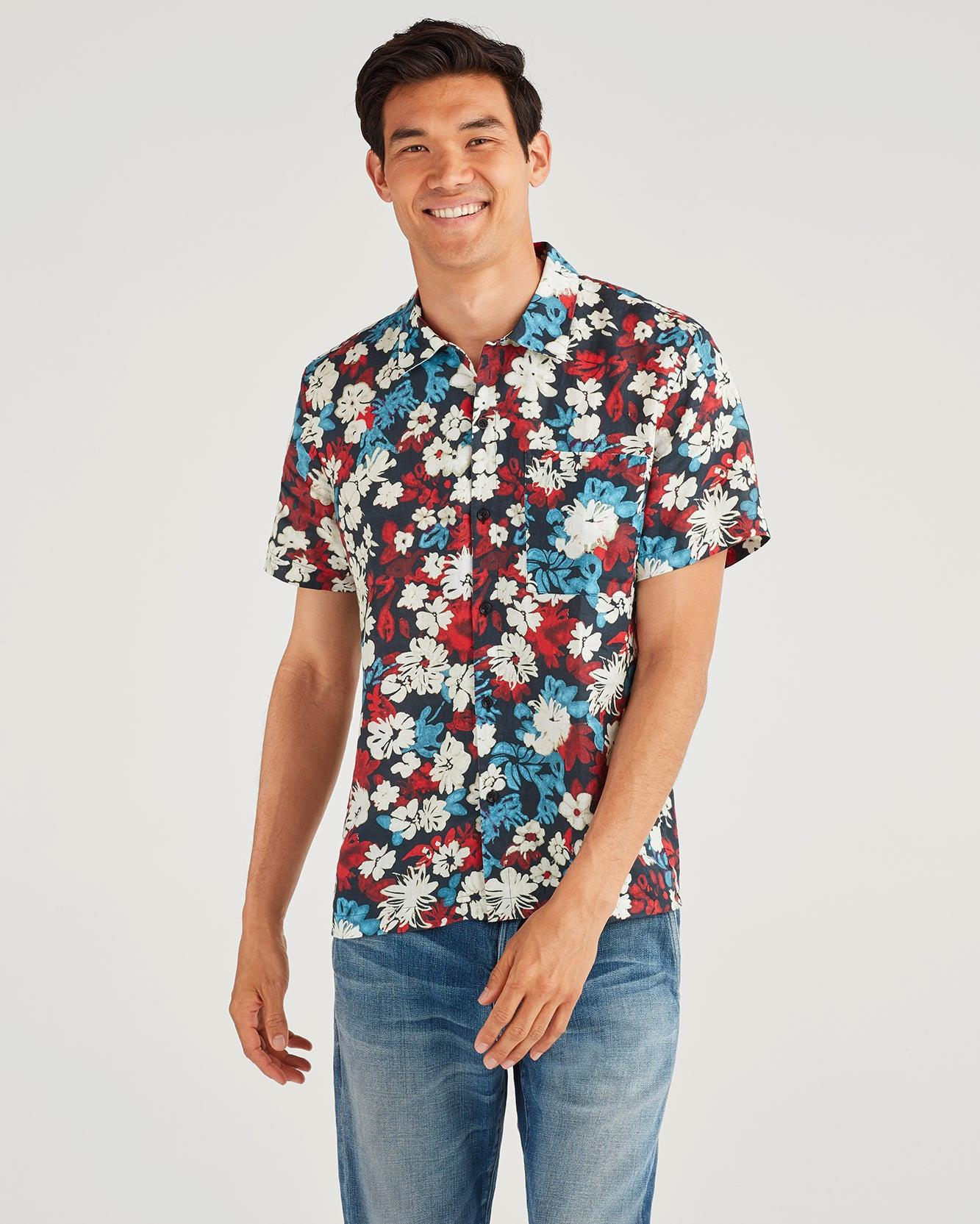 Aloha Short Sleeve Shirt in Poppy Floral