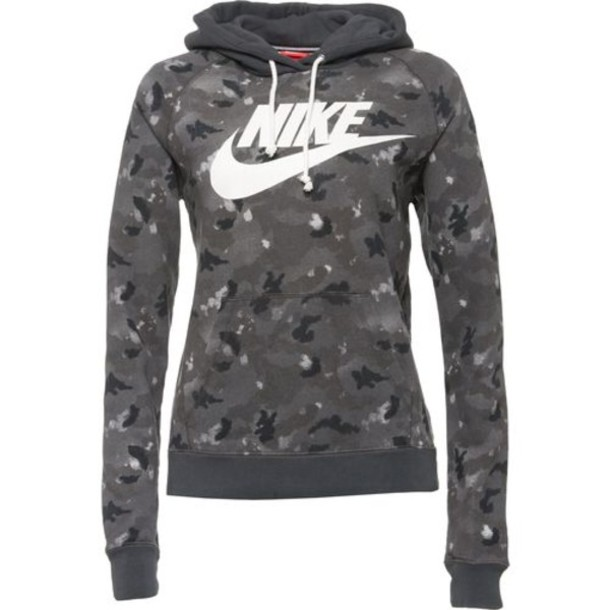 sweater nike fitness grey black camouflage