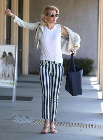 pants stripes january jones