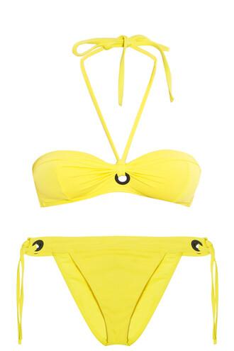 bikini bandeau bikini yellow swimwear