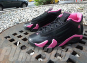 shoes,jordans,air jordan,black,pink