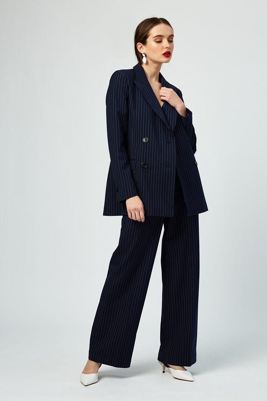 Cecile Navy Striped Blazer