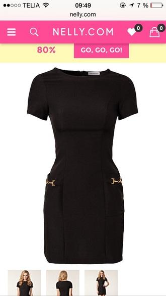 dress black gold perfect dress girl ida sjöstedt shift dress