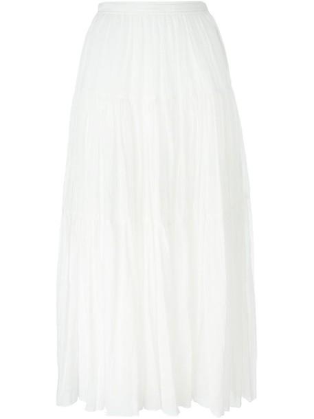 skirt maxi skirt maxi high women white cotton