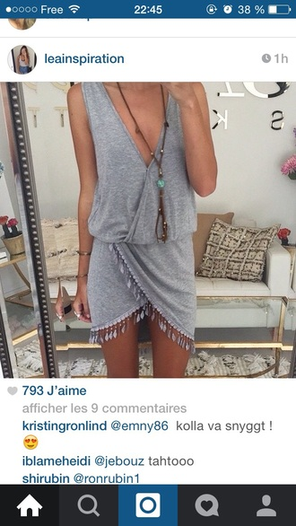 dress grey summer dress