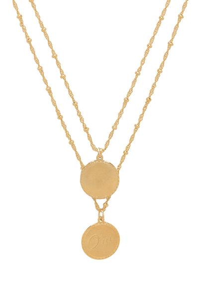 joolz by Martha Calvo Non & Oui Necklace in gold / metallic
