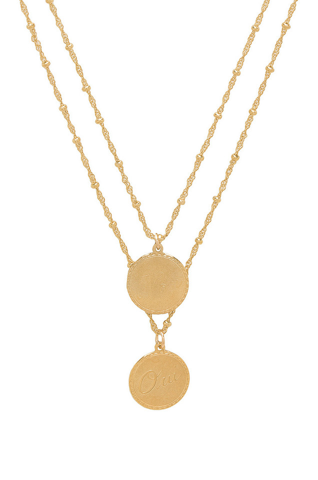 joolz by Martha Calvo Non & Oui Necklace in gold / metallic