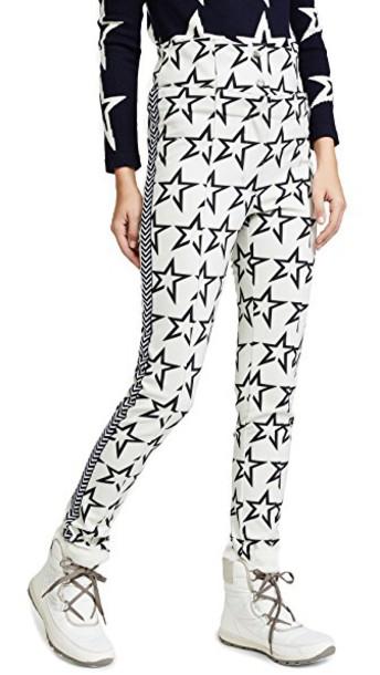 Perfect Moment pants skinny pants high snow white black stars