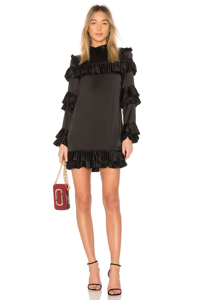 FRAME dress ruffle dress ruffle black