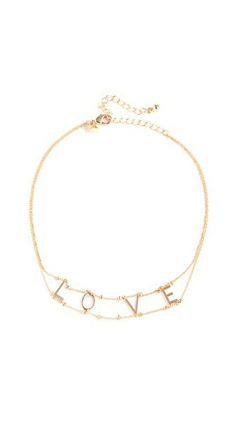 Rebecca Minkoff love necklace choker necklace gold jewels